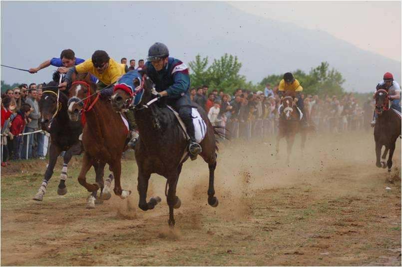 ΔΟΞΑΤΟ: Aναβίωσε και φέτος το έθιμο των ιπποδρομιών