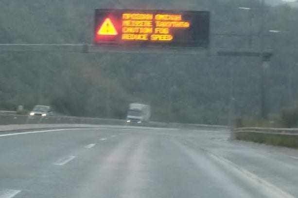 Έντονες Βροχοπτώσεις. Προσοχή των οδηγών στην Εγνατία