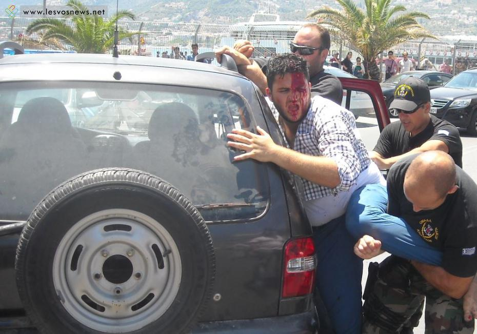 """""""Αντάρτικο"""" οι λαθρομετανάστες στην Μυτιλίνη"""