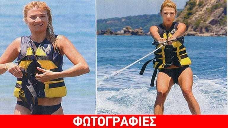 Φαίη Σκορδά: Διατηρείται fit και στις διακοπές κάνοντας σκι