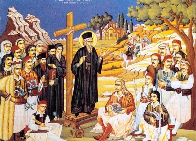 Στο παρεκκλήσι της Μύκης η πανηγυρις Αγίου Κοσμά του Αιτωλού