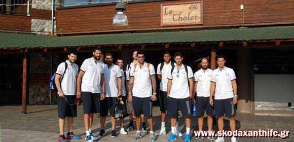 Η Εθνική Ελλάδος Μπάσκετ στο LE CHALET