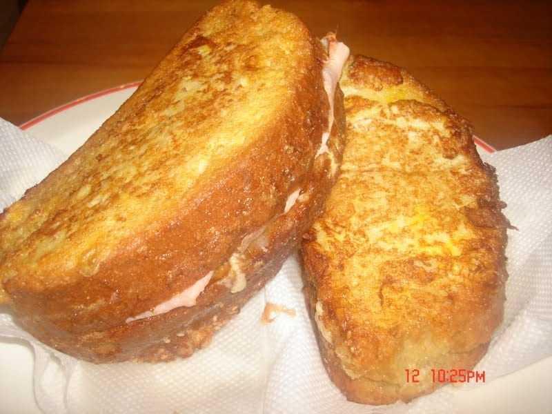 Αβγοφέτες με ζαμπόν και τυρί