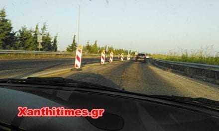 Συνεχίζεται η ασφαλτόστρωση του Εθνικού δρόμου Ξάνθη Λάγους στο ύψος του Κουτσού.