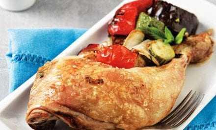 Κοτόπουλο φούρνου με καλοκαιρινά λαχανικά