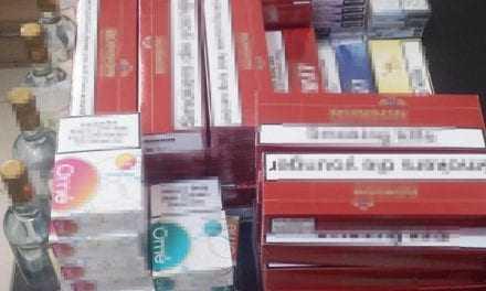 Κατασχέθηκαν 720 πακέτα λαθραίων τσιγάρων και 6 φιάλες αλκοολούχου ποτού