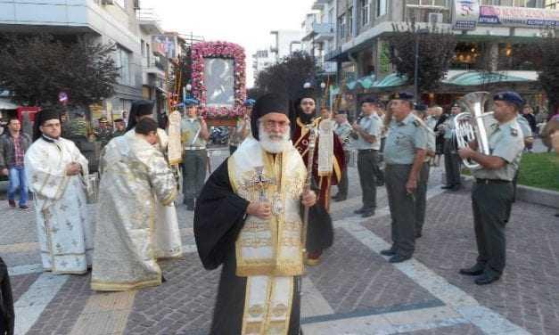 Υποδοχή της Ιεράς Εικόνος Παναγίας Αρχαγγελιώτισσας στην Κεντρική Πλατεία