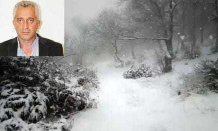 Στα λευκά το Δασικό. Περιμένουν να κοπάσει η χιονόπτωση για να ανεβεί το εκχιονιστικό