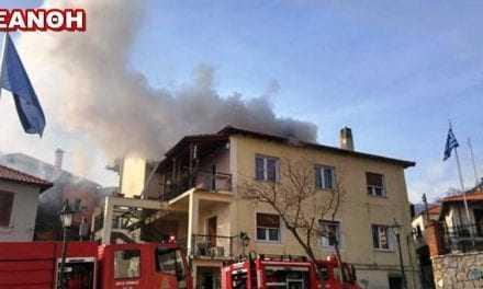 Πυρκαγιά σε διώροφο σπίτι στην πλατεία Μητροπόλεως, Ξάνθη