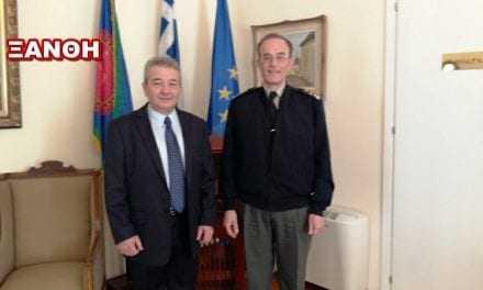Επίσκεψη στρατηγού στον Δήμαρχο