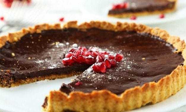 Υπέροχη τάρτα σοκολάτας με ρόδια