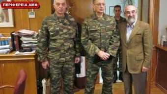 Επίσκεψη αρχηγού ΓΕΣ στον κ. Λαμπάκη