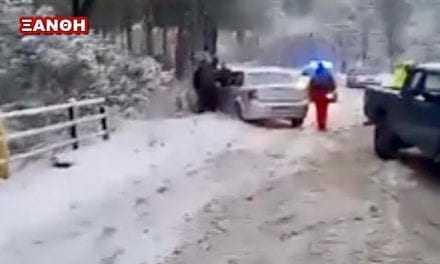 Το πρώτο τροχαίο του χιονιά στην Ξάνθη-Δεν υπήρξαν θύματα