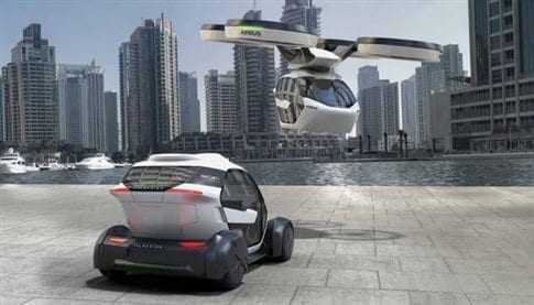 Eπαναστατικό αυτόνομο μέσο Pop.Up: το αυτοκίνητο που θα γίνεται drone