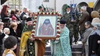 Σήμερα στη Δράμα η λιτάνευση της ιερής λάρνακας του Οσίου Γεωργίου