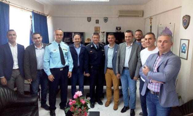 «Επίσκεψη του Διοικητικού Συμβουλίου της Ένωσης Αξιωματικών Α.Μ.Θ. στην Διεύθυνση Αστυνομίας Ξάνθης»