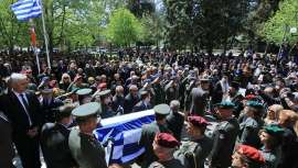 Σε κλίμα οδύνης η κηδεία του ταγματάρχη Δημοσθένη Γούλα
