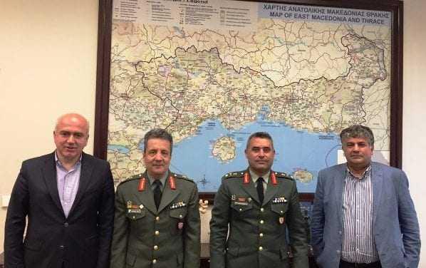 Επίσκεψη στον Περιφερειάρχη ΑΜΘ από τους Ταξίαρχους Κοσμά Μόσχο και Λάζαρο Καμπουρίδη