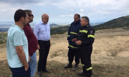 Επίσκεψη και ενημέρωση του Περιφερειάρχη ΑΜΘ για την πυρκαγιά στη Νέα Σάντα Ροδόπης