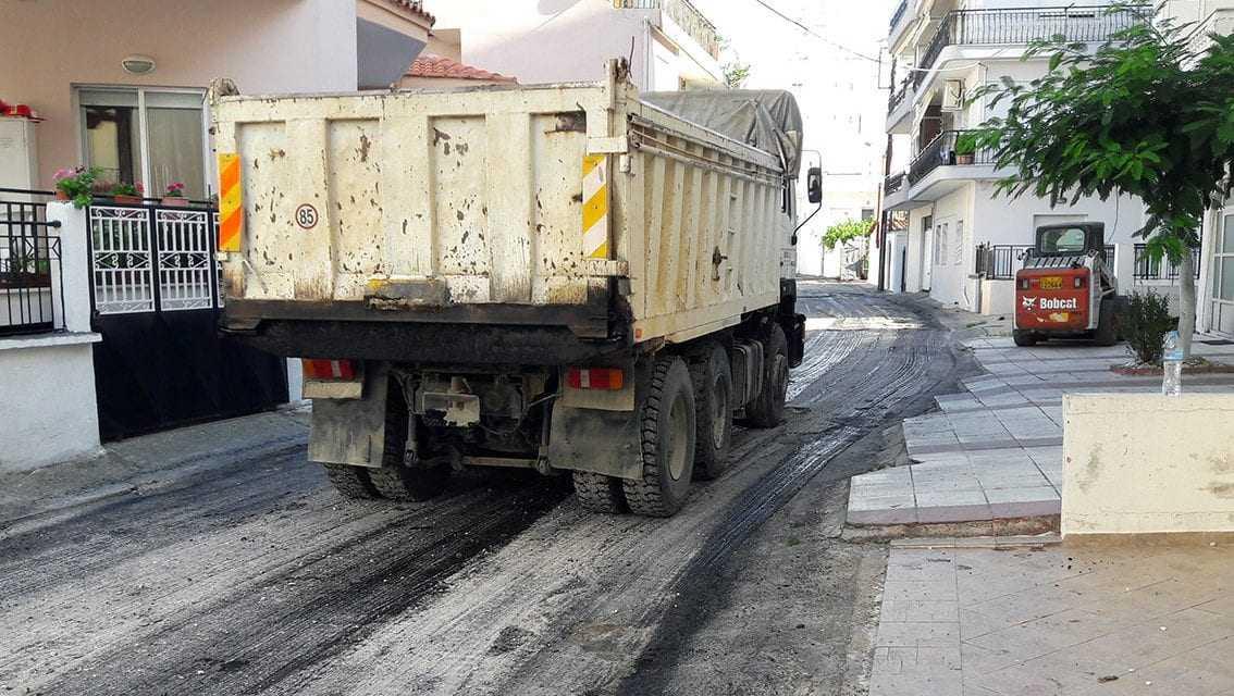Ασφαλτόστρωση στην Θ. Δούκα από τον δήμο Ξάνθης