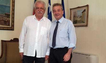 Συνάντηση Σταύρου Μπένου με τον Δήμαρχο Ξάνθης.