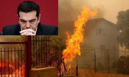 Αφού έσβησαν οι φωτιές εμφανίσθηκε και ο Πρωθυπουργός της Χώρας.