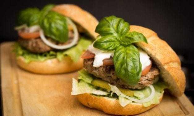 Λαχταριστά Burger γαλοπούλας για 4 άτομα
