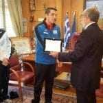 Βράβευση του Παγκόσμιου Πρωταθλητή Tae Kwon Do ITF, Γρηγόρη Ζάχο από τον Δήμαρχο Αλεξανδρούπολης
