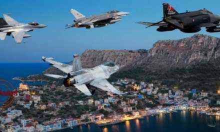 Σε κλοιό 14 Τούρκικων Μαχητικών και Πολεμικών σκαφών το Καστελόριζο …Συναγερμός στο ΑΤΑ & 95 ΑΔΤΕ!