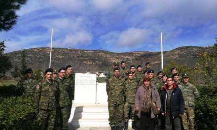 Επίσκεψη Αξιωματικών και Στρατιωτών στους χώρους μνήμης των Κυπρίων στην Ξάνθη