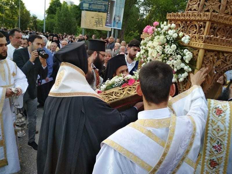 Υποδοχή και λιτάνευση της Ιεράς εικόνας Θεομήτορος στην Κομοτηνή