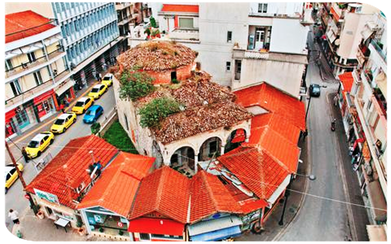 Επισκευάζεται η σκεπή του Αράπ Τζαμιού στην Δράμα. Απαγόρευση κυκλοφορίας