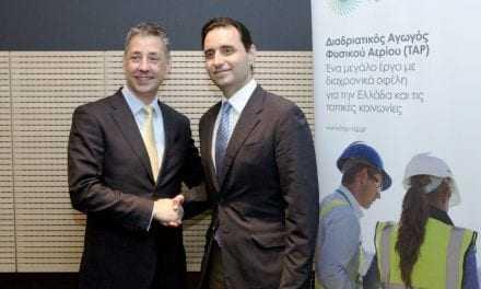 Υπογραφή Μνημονίου Συνεργασίας μεταξύ του Δικτύου Κοινωνικής Αλληλεγγύης και Αρωγής και του Διαδριατικού Αγωγού Φυσικού Αερίου (ΤΑΡ