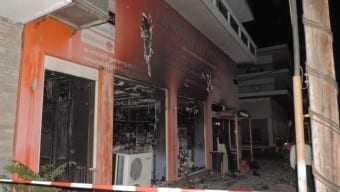 Δράμα. Πυρκαγιά σε κατάστημα ηλεκτρολογικού υλικού