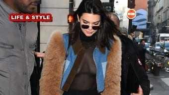 Με διάφανο μπλουζάκι και χωρίς σουτιέν η Kendall Jenner