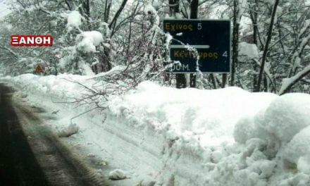 Μάχη με …το χιόνι Αντιπεριφερειάρχης και Δήμαρχοι – Έκκληση από τον Δήμαρχο Μύκης για Βοήθεια-Σκεπασμένος με χιόνι ο ορεινός όγκος- Να παραμείνουν κλειστά τα σχολεία όλη την εβδομάδα