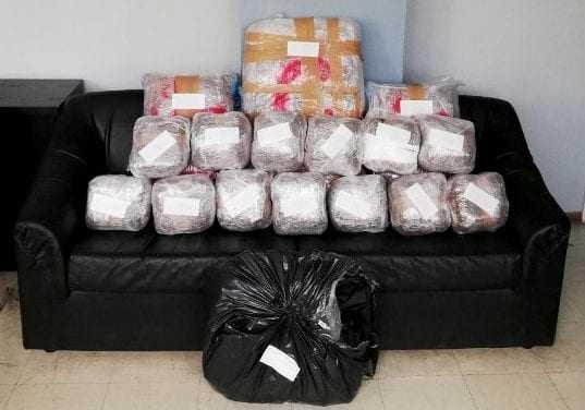 Η Αστυνομία της Ξάνθης έκανε και πάλι το καθήκον της – Κατασχέθηκαν περίπου 34 κιλά ακατέργαστης κάνναβης από αλλοδαπό έμπορο ναρκωτικών