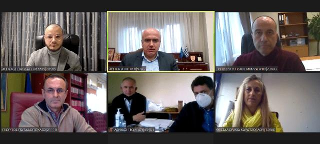 Τηλεδιάσκεψη του Περιφερειάρχη με τη διοικήτρια του Νοσοκομείου για την κάλυψη άμεσων αναγκών λόγω πανδημίας