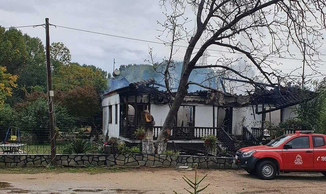 Σπίτι κάηκε ολοσχερώς στον οικισμό των Ασωμάτων Ροδόπης